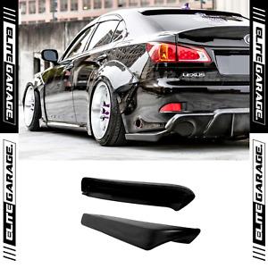 Fits 06-13 Lexus IS IS250 IS350 Rear Pods Bumper Lip Spats Splitters 2PCs