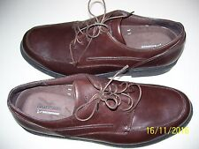 MENS SIZE 14 BROWN CASUAL TIE SHOES, DUNHAM WATERPROOF, LEATHER UPPER  FS