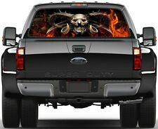 Demon Grim Reaper Skulls Fire Ver-1  Rear Window Graphic Decal Truck SUV Van