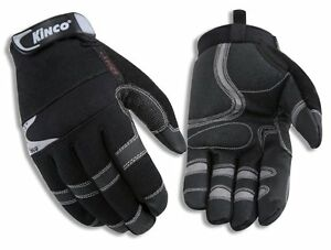 Kinco Pro 2041 Unlined Mens Work Gloves Synthetic High Grip Tactical Black new