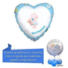 CENTROTAVOLA BATTESIMO BIMBO Palloncino Cuore Azzurro Addobbi Feste ed eventi