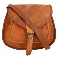 Women Vintage Brown Leather Messenger Shoulder Bag Cross Body Handmade Purse New
