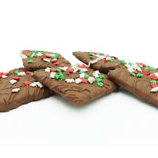 Philadelphia Candies Christmas Graham Crackers, Milk Chocolate Covered 6 Ounce