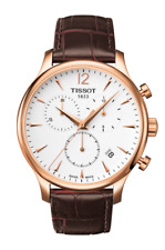 Tissot T-Classic Tradition T0636173603700 Rose Gold Leather Swiss Mens Watch