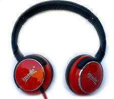 Auriculares Ajustable En Auriculares de estilo DJ W/extra Bass para teléfono móvil Rojo
