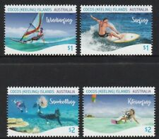 COCOS Islands 2019 WATER SPORTS of Cocos design set of 4 MNH.