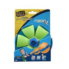 Phlat ball(neon) throw a disc & catch a ball outdoor flying disc ball toy, multi