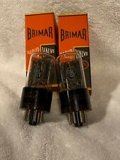 Pair of NOS NIB Brimar 6SL7 tubes