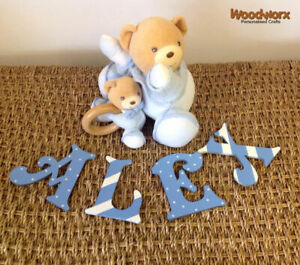 Personalised Wooden Door Letters Bedroom Name Plaque or Toy Box #49