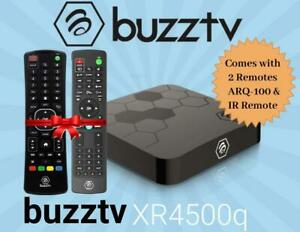 BuzzTV XR 4500q ULTRA HD IPTV BOX With BONUS ARQ 100 Remote Control