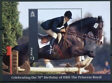 Jersey Royalty Stamps 2020 Mnh Princess Anne 70th Birthday Horses 1v M/S