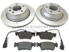 VOLKSWAGEN VW TOUAREG 2.5 TDi 2003-2010 REAR 2 BRAKE DISCS AND PADS WITH SENSOR