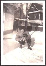 Vintage Photograph 1938 Jack Russell Terrier Dog Canada Fashion Of Era Old Photo