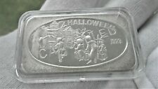 1973 HALLOWEEN CANCELLED SILVER ART BAR USSC #20 OF 50