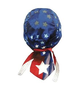 Star Spangled USA Bandanna Biker Doo Do Rag Head wrap Skull cap Capsmith Du Rag
