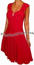 HC2 FUNFASH WOMEN PLUS SIZE EMPIRE WAIST RED PLUS SIZE COCKTAIL DRESS 1X 18 20
