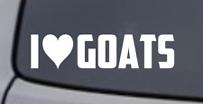 I LOVE GOATS Vinyl Decal Sticker Car Window Wall Bumper Funny Farm Animal Heart