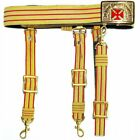 KNIGHTS TEMPLAR PAST GRAND COMMANDER RED & GOLD SWORD BELT - RED CROSS