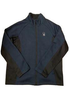 Spyder Blue Full Zip Mid Layer Jacket