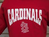 ST. LOUIS CARDINALS MEN'S T SHIRT L RED ADIDAS BASEBALL S. SLEEVE COTTON 2 PIX
