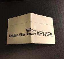 Nikon Camera Lens Gelatine Filter Holders AF-1/AF-2 - Instruction Manual