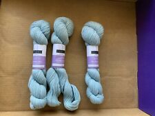 Discontinued Louet Gems Yarn! LOT of 3! Color is Grey Sky! Beautiful!