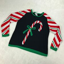 Ugly Christmas Holiday Sweater Candy Cane Stripes Womens Petite SIZE PL Nouveaux