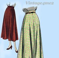 Vogue 6521: 1950s Easy Misses Day Skirt Size 24 Waist Vintage Sewing Pattern