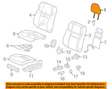 06810-T0G-V81ZA Beige leather right side head rest. NEW.