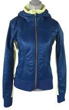 LULULEMON ATHLETICA Beaming Blue Clarity Yellow UBA HOODIE JACKET SE Coat Size 6