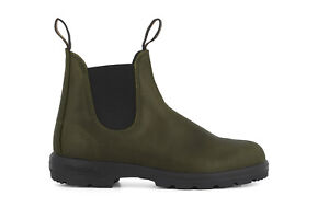 Blundstone 2052 Boots Unisex Classic Chelsea Green Leather Ankle Pull On Boot