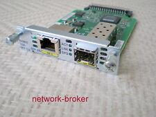Cisco EHWIC - 1ge-sfp-cu Enhanced HWIC, Dual Mode 1 Port SFP/COPPER