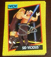 Sid Vicious Signed 1991 Impel WCW Rookie Card RC 28 Autograph WWE Wrestling Auto