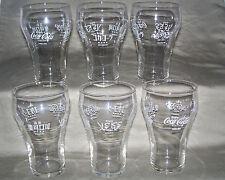 6 Original Coca Cola (Coke) International glass / 1976 Olympics Montreal Canada