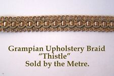 "Gold & Light Blue Upholstery Braid ""Grampian Thistle"" 18mm (sold by the Metre)"