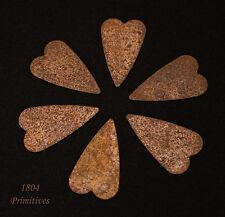 "50 ~ Primitive 1"" Rusty Tin Hearts ~ Craft Supply"