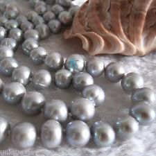 """Necklace A+ Strand Jewelry 35"""" 8-10mm Gray Freshwater Pearl"""