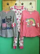 NWT Lot Of Little Girl Clothes Outfits Pajama Set 2 Tops Size S 6/6X