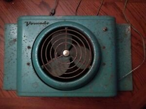 Vintage Blue 1950s Vornado 2-Speed Adjustable Industrial Window Fan Works 16T21