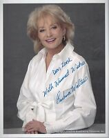 barbara walters signed 8x10 autographed photo auto abc news the view tv anchor