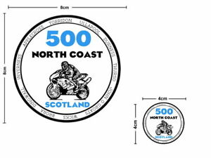 2x North Coast 500 Vinyl Motorcycle Bike Sticker Decal NC500 SCOTLAND Waterproof