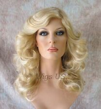 "Long Wig Charlies Angels ""Farrah"" Style Golden Blonde Mix Flipped Wigs US Seller"