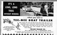 1960 Print Ad Tee-Nee Boat Trailers Youngstown,OHIO