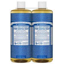 Dr. Bronner's Magic Soaps: Pure Castile Soap,18-in-1 Hemp Peppermint, 50 fl oz