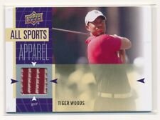 2011 UD World of Sports All Sports Apparel Tiger Woods Red Shirt Hobby