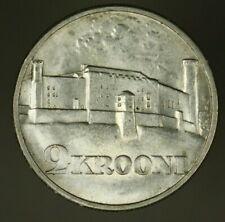 Estonia  Silver 2 Krooni 1930  AU+  Tompea Fortress  A1388