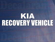 KIA Vehículo de recuperación Novedad Divertido Coche/Ventana/Parachoques Vinilo STICKER/DECAL
