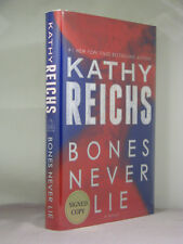 1st,signed by author,Temperance Brennan 17:Bones Never Lie by Kathy Reichs(2014)