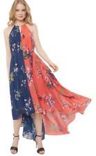 Ted Baker London Tropical Oasis Chain Detail Maxi Dress Sz 3 -M