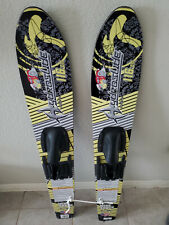 HydroSlide Wide Track Trainer Water Skis 116 Cm  Made In USA